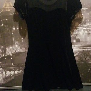 Hot Topic Dresses - Black velvet and lace dress from Hot Topic (L)